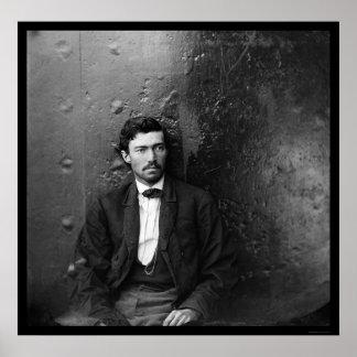 Conspirador Arnold 1865 del asesinato de Lincoln Póster