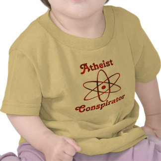 Conspirador ateo camiseta