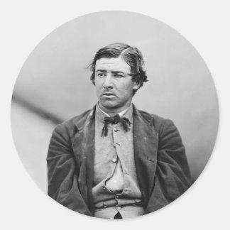 Conspirador del asesinato de David E. Herold Pegatina Redonda