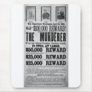 Conspiradores queridos del asesinato de Lincoln Alfombrillas De Ratón