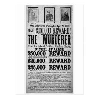 Conspiradores queridos del asesinato de Lincoln Postales