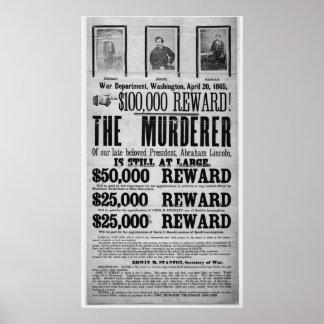 Conspiradores queridos del asesinato de Lincoln Póster