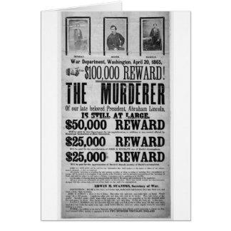 Conspiradores queridos del asesinato de Lincoln Tarjeta De Felicitación