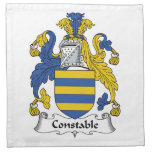 Constable Family Crest Napkin