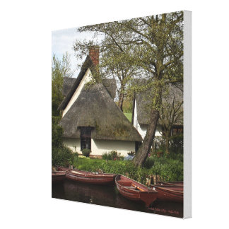 Constable Thatched Cottage - wrapped canvas