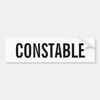 CONSTABLE - White Logo Emblem Bumper Sticker
