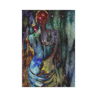 constalation woman canvas print
