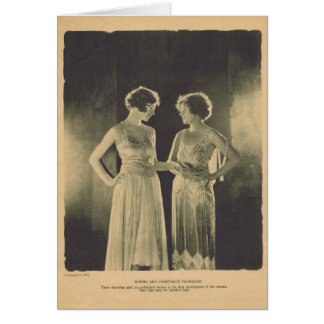 Constance and Norma Talmadge 1922 vintage portrait Greeting Card