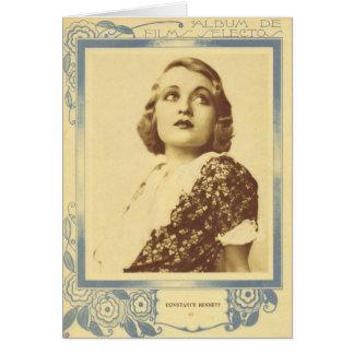 Constance Bennett portrait 1930s Greeting Card