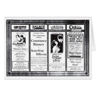 Constance Binney James Kirkwood silent ads 1921 Card