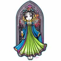 rainbow, stain, glass, angel, gothic, faery, fairy, fae, faerie, fairies, fantasy, window, candle, cute, adorable, guardian, myka, jelina, art, photo, sculpture, fine art, Photo Sculpture with custom graphic design