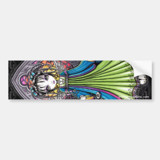 Constance Stained Glass Sunset Angel Bumper Sticker