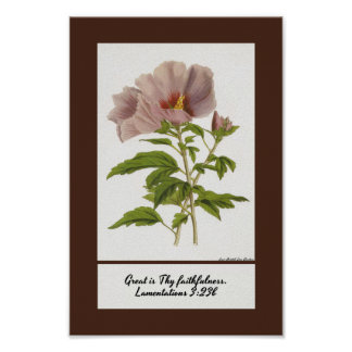 Constans Hibiscus Inspirational Poster Print