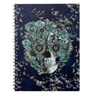 Constante, cráneo de la mariposa de los azules mar cuadernos