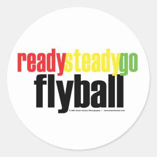 Constantes listos van Flyball Pegatina Redonda