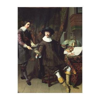 Constantijn Huygens  and his clerk, 1627 Canvas Print