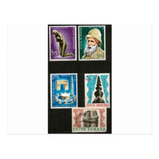 Constantin Brancusi art on stamps Postcard