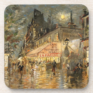 Constantin Korovin: Cafe La Marine, Paris Coaster