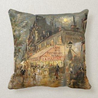 Constantin Korovin: Cafe La Marine, Paris Pillows