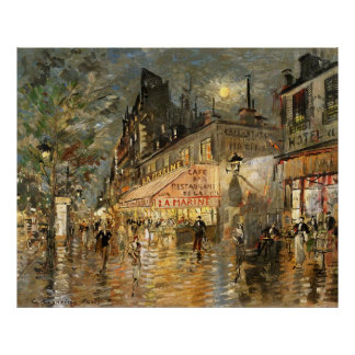 Constantin Korovin: Cafe La Marine, Paris Posters