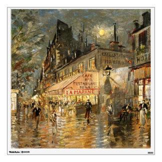 Constantin Korovin: Cafe La Marine, Paris Wall Decal