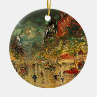 Constantin Korovin: Paris at Night Ceramic Ornament
