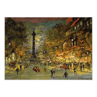 Constantin Korovin: The Square of Bastille, Paris Card