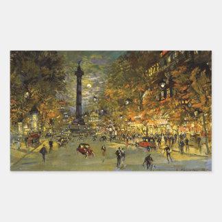 Constantin Korovin: The Square of Bastille, Paris Rectangular Sticker