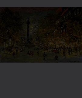 Constantin Korovin: The Square of Bastille, Paris Shirt