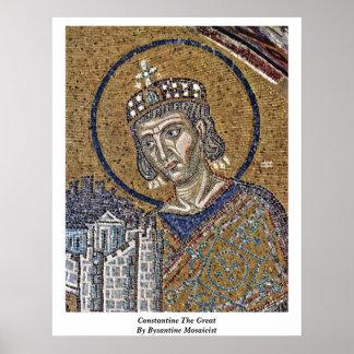 Constantina el grande de fabricante de mosaicos bi posters