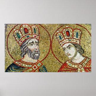 Constantina el grande y St. Helena Impresiones