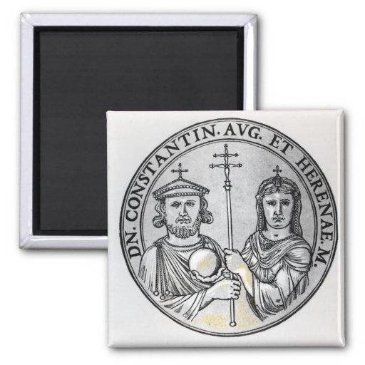 Constantina VI y su madre Irene Iman