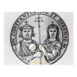 Constantina VI y su madre Irene Tarjeta Postal