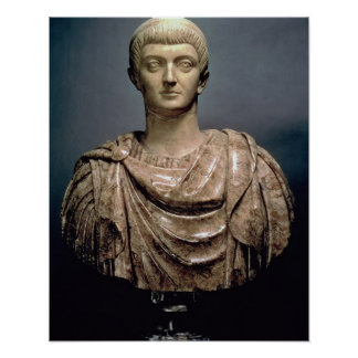 Constantine I (c.274-337) c.350 AD (marble) Poster