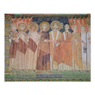 Constantine IV granting Bishop privileges Print