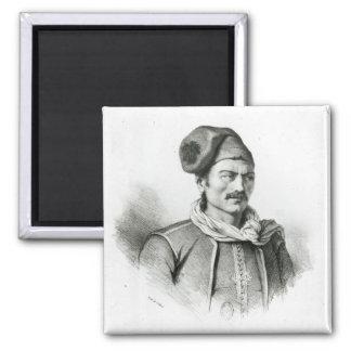 Constantine Kanaris 2 Inch Square Magnet