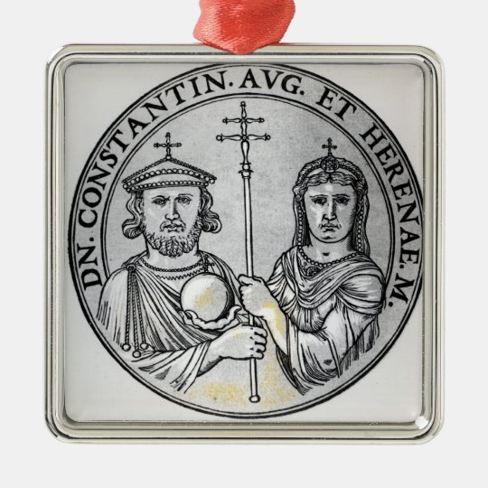 Constantine VI  and his Mother Irene Metal Ornament