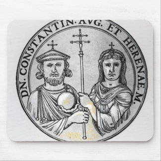 Constantine VI  and his Mother Irene Mouse Pad