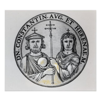 Constantine VI  and his Mother Irene Poster