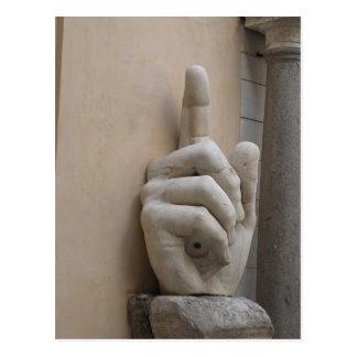 Constantine's Hand, Rome Postcard
