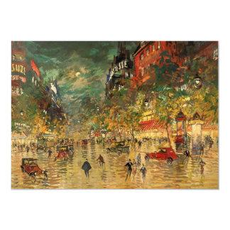 Constantino Korovin: París en la noche Invitación 12,7 X 17,8 Cm