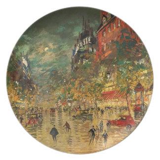 Constantino Korovin: París en la noche Platos Para Fiestas