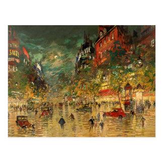 Constantino Korovin: París en la noche Postal