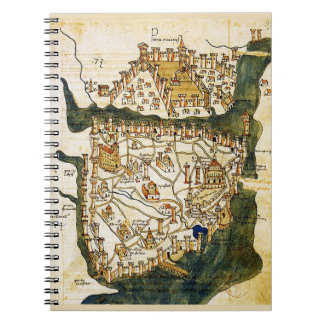 Constantinople 1422 spiral notebook