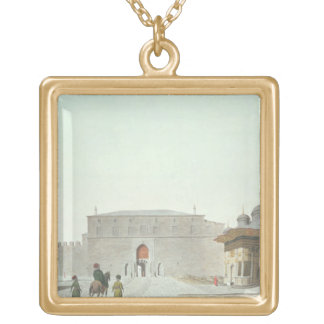 Constantinople: Haghia Sophia Square showing the f Gold Plated Necklace
