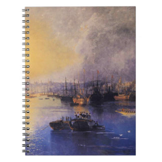 Constantinople Sunset by Ivan Aivazovsky Notebook