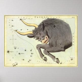 Constelación de Bull del tauro de la astrología Impresiones