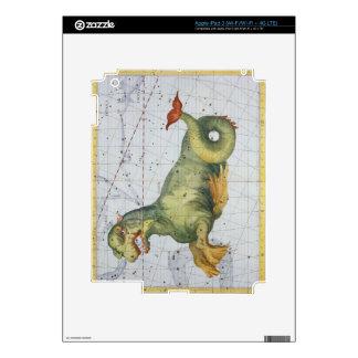 Constelación de Cetus la ballena, del 'atlas Coel iPad 3 Pegatina Skin