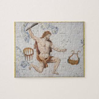 Constelación de Hércules con la corona y Lyra, pl Puzzle