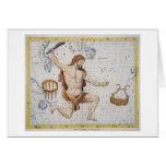 Constelación de Hércules con la corona y Lyra, pl Tarjeta De Felicitación